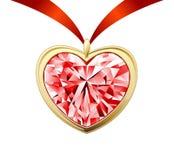 Coração do diamante Foto de Stock Royalty Free