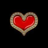 Coração do diamante do dia de Valentim Fotos de Stock