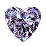 Coração do diamante modelo 3d Foto de Stock Royalty Free
