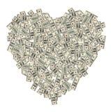 Coração do dinheiro Imagem de Stock Royalty Free