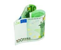 Coração do dinheiro Fotografia de Stock