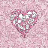 Coração do Doodle Fotografia de Stock