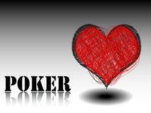 Coração do elemento do casino Ilustração Royalty Free