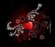 Coração do encanto ilustração stock