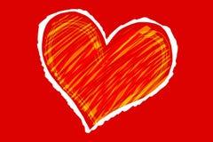 Coração do esboço Imagens de Stock Royalty Free