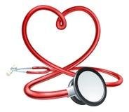 Coração do estetoscópio ilustração stock