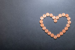 Coração do Euro Imagem de Stock