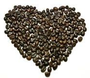 Coração do feijão de café Imagem de Stock