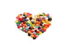 Coração do feijão de geléia Imagens de Stock