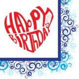 Coração do feliz aniversario Imagens de Stock Royalty Free