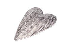 Coração do ferro com um teste padrão Fotos de Stock