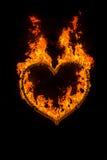 Coração do fogo Imagem de Stock