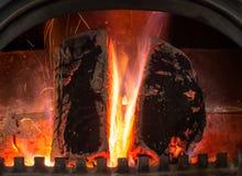 Coração do fogo Fotos de Stock Royalty Free
