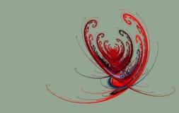 Coração do Fractal em um cinza ilustração royalty free