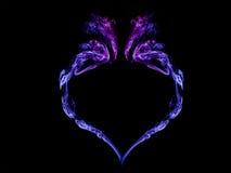 Coração do fumo em um fundo preto Fotos de Stock