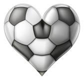Coração do futebol do amor Fotos de Stock