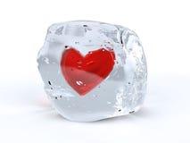 Coração do gelo Imagens de Stock