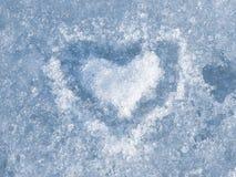 Coração do gelo Fotografia de Stock Royalty Free