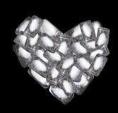 Coração do gelo Imagem de Stock