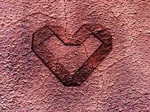 Coração do Grunge Fotos de Stock Royalty Free