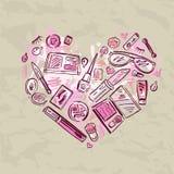 Coração do grupo de produtos da composição Foto de Stock Royalty Free