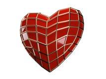 Coração do homem-aranha Fotografia de Stock