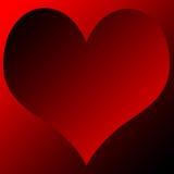 Coração do inclinação Fotografia de Stock Royalty Free