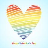 Coração do inclinação da aquarela do arco-íris Imagens de Stock Royalty Free