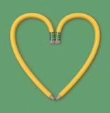 Coração do lápis Foto de Stock Royalty Free