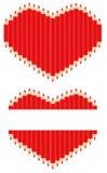 Coração do lápis Fotografia de Stock