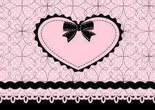 Coração do laço Imagens de Stock Royalty Free