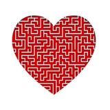 coração do labirinto 3d Foto de Stock Royalty Free