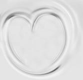 Coração do leite ou do creme Fotografia de Stock