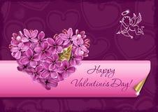Coração do lilac Imagens de Stock