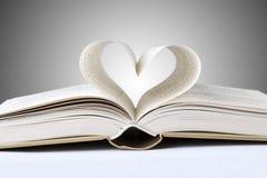 coração do livro Fotos de Stock Royalty Free