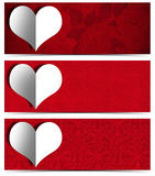 Coração do Livro Branco - três bandeiras Foto de Stock