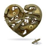 Coração do maquinismo de relojoaria Fotos de Stock Royalty Free