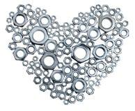 Coração do metal Fotos de Stock Royalty Free