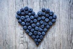 Coração do mirtilo Imagens de Stock Royalty Free