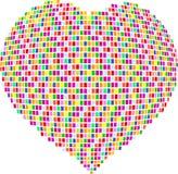 Coração do mosaico Fotografia de Stock