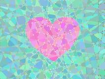 Coração do mosaico ilustração do vetor