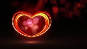 Coração do néon de Vegas ilustração royalty free