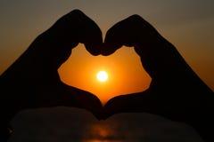 Coração do nascer do sol Imagem de Stock