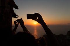 Coração do nascer do sol Fotografia de Stock Royalty Free