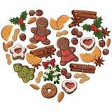 Coração do Natal ilustração do vetor