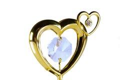 Coração do ouro Foto de Stock