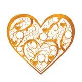 Coração do ouro Imagens de Stock Royalty Free