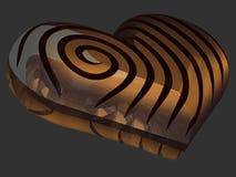 coração do ouro 3D Foto de Stock Royalty Free