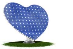 Coração do painel solar Fotografia de Stock