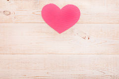 Coração do papel Rosa vermelha Foto de Stock